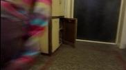 котка си отваря вратичка