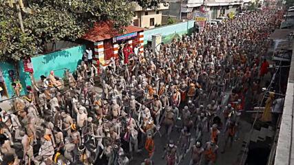 India: Crowds bath in Ganges in Kumbh Mela festival despite soaring  COVID-19 cases