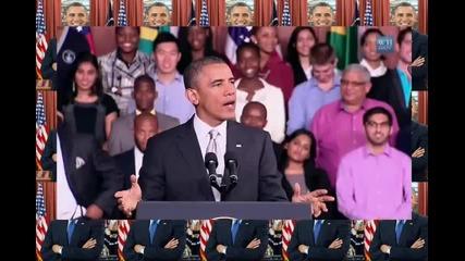 Барак Обама пее Fancy на Иги Азалия