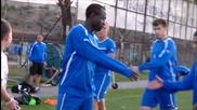Гаджев и Опоку се сдърпаха на тренировка