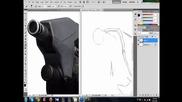 Рисуване на Master Chief от Halo 4 [ Част 1 ]