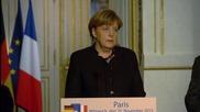 Оланд призова Меркел да се направи повече в борбата срещу ИД