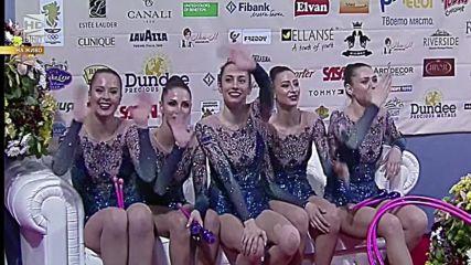 Златен медал за България - бухалки и обръчи - Световна купа - София 2016