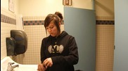 cinnamon challenge in the girls bathroom ;)