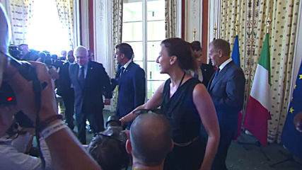 France: G7's European leaders pose for group photo ahead of meeting
