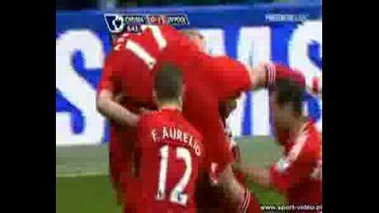 Chelsea 0 - 1 Liverpool, Xabi Alonso Goal