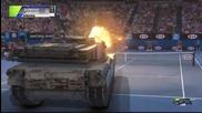 Новак Джокович се изправя срещу танк на корта