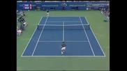Federer - Agassi Us Open 2005