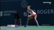 Toronto 2015 Ana Ivanovic vs Polona Hercog Set-1