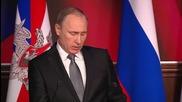 Путин призова руските военни да действат максимално твърдо в Сирия