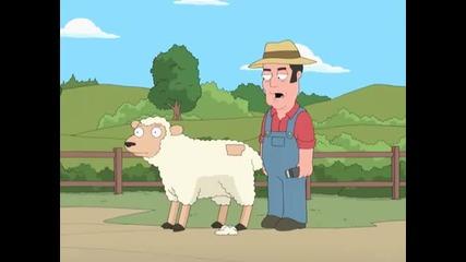 Seth Macfarlanes Cavalcade of cartoon comedy-sheep shearing
