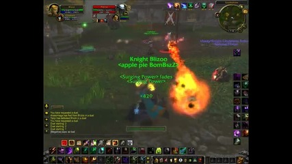 Destruction Warlock vs Fury Warrior