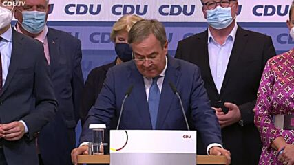 Germany: 'We can't be happy with the results' - Laschet after exit polls in Berlin