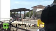 Croatia: Refugees clash with police at Beli Monastir train station