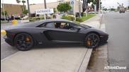 Секси азиатка с Lamborghini Aventador! !