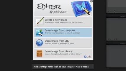 Pixlr-сайт който много прилича на Photoshop