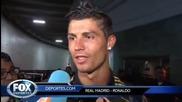 Смях ! Кристиано Роналдо поправя грешка на репортер !