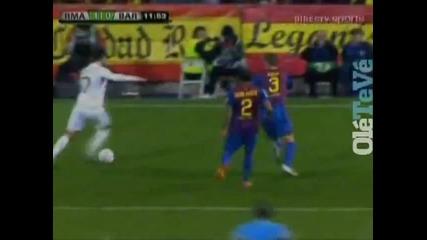 Кристиано Роналдо много красив гол срещу Барселона