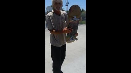 Дядка с луди скейт трикчета!