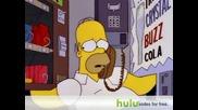 The Simpsons - Хоумар сe заклeщва в машина за напитки