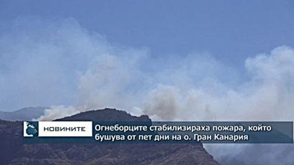 Огнеборците стабилизираха пожара, който бушува от пет дни на о. Гран Канария