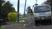 Щетите след голямо торнадо в Киама, Австралия 24.2.2013