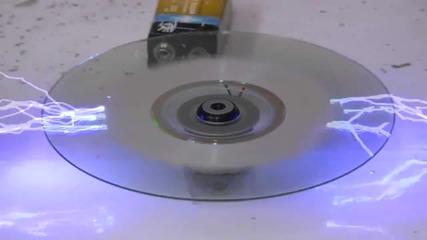 Изтриване на диск чрез високо напрежение!