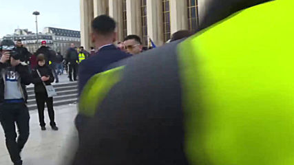 Yellow vests, white dress! Paris newlyweds parade their love on frontline