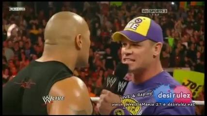 Wwe Raw 28/3/2011 - The Rock Vs John Cena Part 2