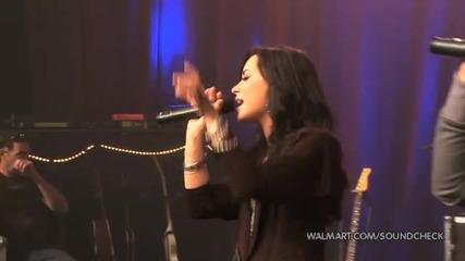 Demi Lovato & Joe Jonas - Wouldnt Change A Thing (2010 Walmart Soundcheck)