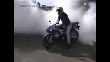 Yamaha r6,  Burnout
