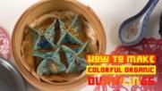 Celebrate Chinese New Year with blue vegan dumplings!