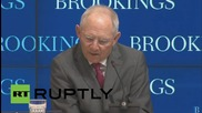 USA: Europe will provide financial help but only for something in return - Schaeuble
