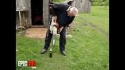 Отваряне на бира с резачка