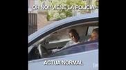 Дръжте се нормално, когато ви спре полиция! :)