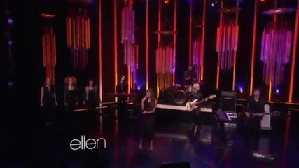 Lea Michele - Cannonball (live On The Ellen Show)