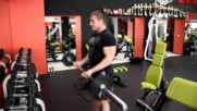 Фитнес упражнения - Сгъване за бицепс с прав лост