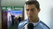Интервю с Роналдо след първия му мач (още на полувремето) ~превод~ (кристално качество)