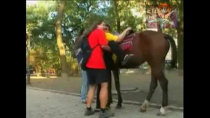 Качете дебеланата на коня,скрита камера