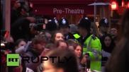 Великобритания: Феминисти атакуваха червения килим за премиерата на Суфражетка