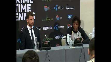 Какво казаха Григор и Монфис преди мача помежду си?