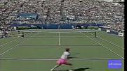 Evert vs Seles 1989 Us Open