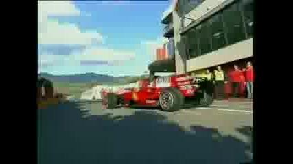 Formula One: Rossi Tastes A Ferrari F2008 F1 Car