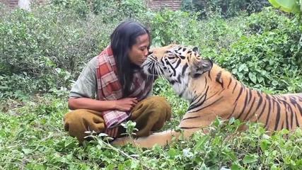 Любовта между хора и животни!