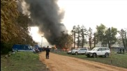 Мигранти подпалиха лагер в Словения