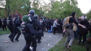 Germany: Police charge at & detain protesters during May Day showdown in Berlin