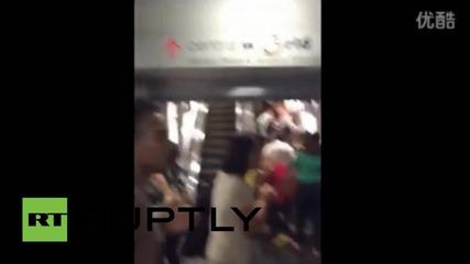 Тайланд: Ужасяващ запис показва момента на избухването на бамбата в Бангкок