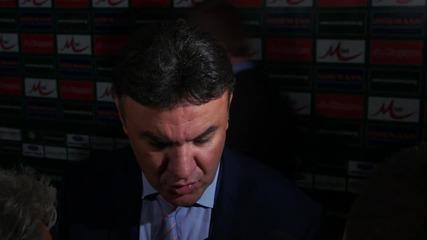 Боби Михайлов: Резултатът не отразява това, което показахме