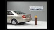Toyota Camry Daihatsu Altis ( 5 M.p.h) Rear into Pole Iihs