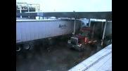 Заметресение на паркинг за камиони в Невада